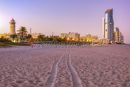 usa florida sunny isles beach illuminated