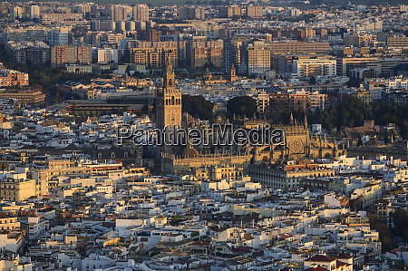 spain andalusia seville high angle view