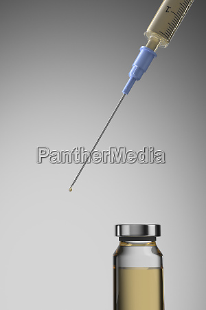 studio shot of corona virus vaccine