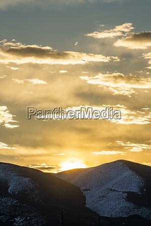 usa idaho sun valley sunrise over