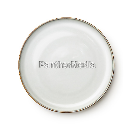 ceramics plate isolated on white background