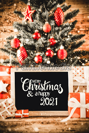 bright christmas tree gifts snowflakes merry