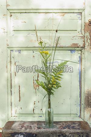 yellow and green flower stems in