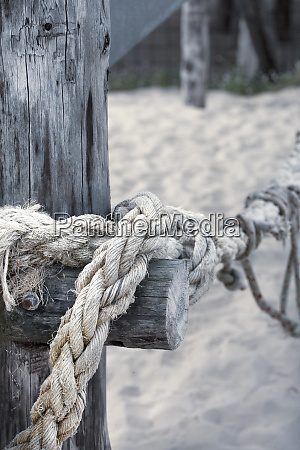 rustic ship rope close up