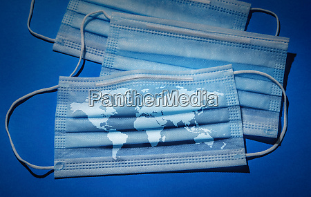 studio shot of surgical masks with