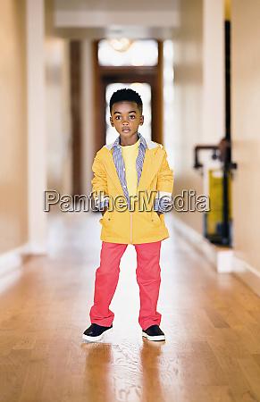 portrait confident cool boy in vibrant