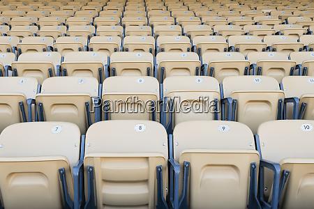 folding seats in sports stadium