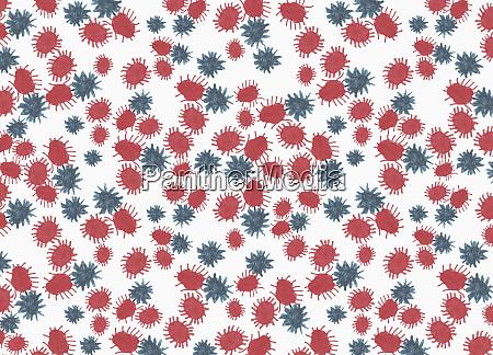 illustration coronavirus bacterium on white background