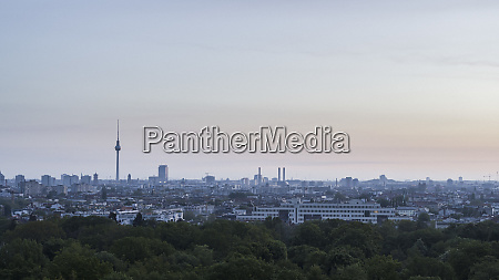 berlin cityscape and television tower beyond