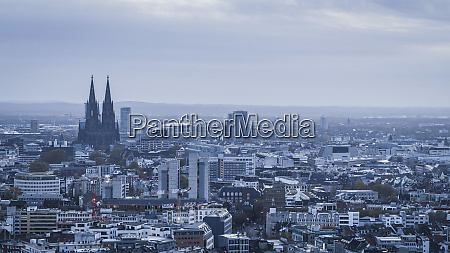 cologne cathedral and cityscape germany