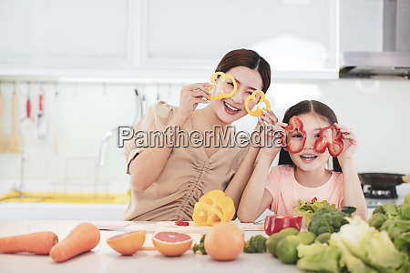 happy mother and child daughter