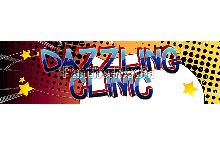 dazzling clinic comic book style cartoon