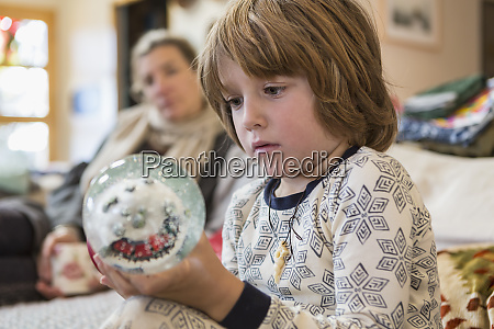 4 year old boy wearing pajamas