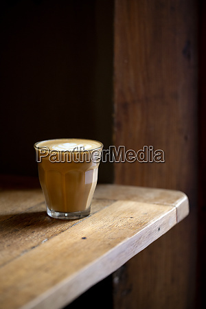 close up of glass of cafe
