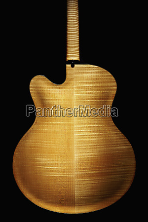 rear view of classical guitar