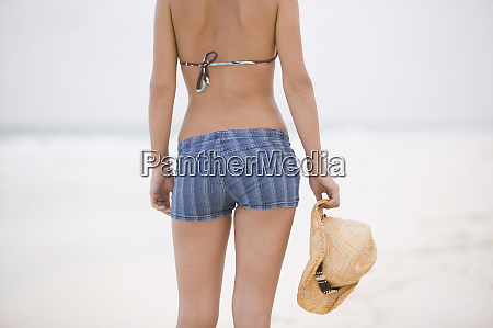 young woman wearing shorts at the