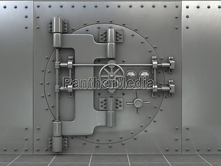 closed safe in bank