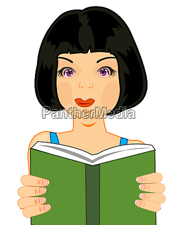 making look younger beautiful girl reads
