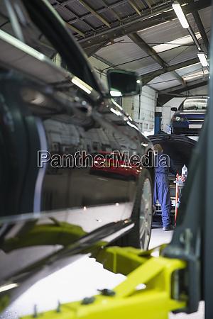 mechanic working in auto repair shop