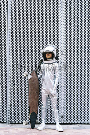 kid dressed as an astronaut with