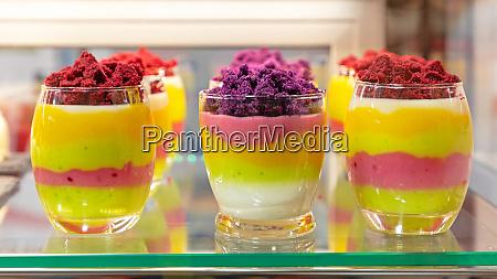 fruits mousse