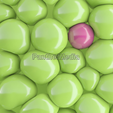 three dimensional render of pink bubble