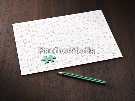 coloring pencil by puzzle and green