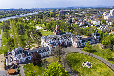 germany hesse hanau helicopter view of