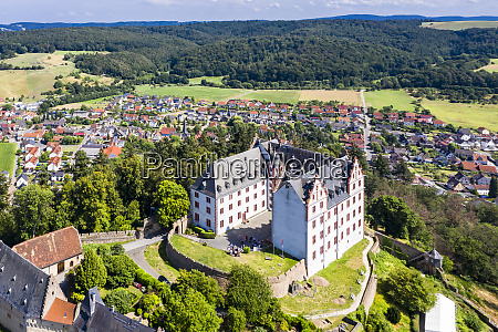 germany hesse fischbachtal aerial view of