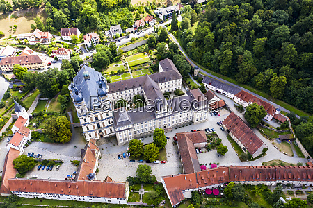 germany baden wurttemberg schontal helicopter view