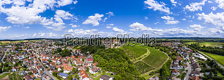 germany baden wurttemberg untergruppenbach panorama of
