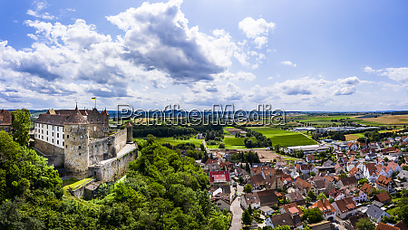 germany baden wurttemberg untergruppenbach helicopter view