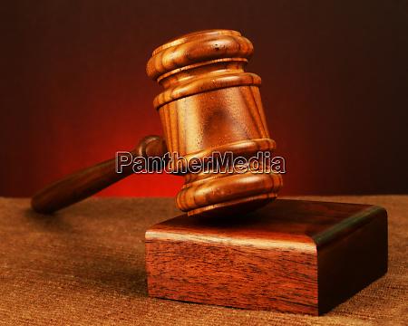 antique wooden gavel
