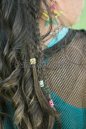 hair of teenager girl with down
