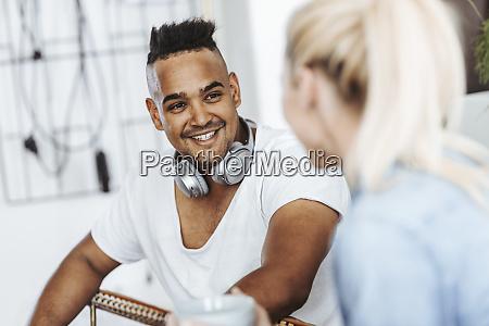 portrait of smiling man with headphones