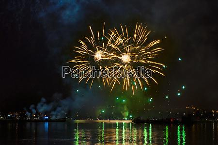 germany, , baden-wurttemberg, , konstanz, , fireworks, display, during - 28742572