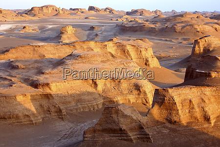 iran rock formations of lut desert