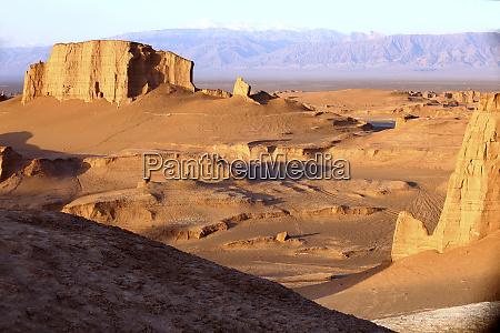 iran arid landscape of lut desert