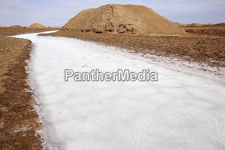 iran salt flat in lut desert