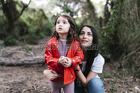 mother with her daughter in the