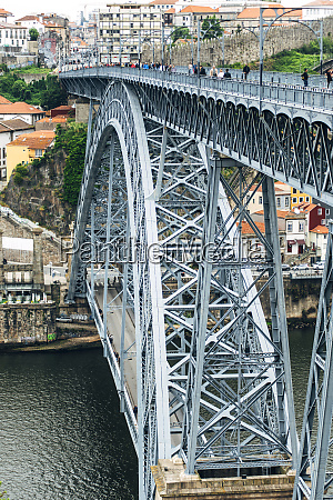 portugal porto luiz i bridge and