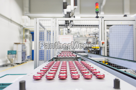 products on conveyor belt in a