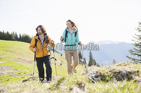 hiking couple wallberg bavaria germany