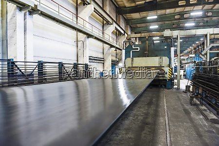 machine in industrial hall