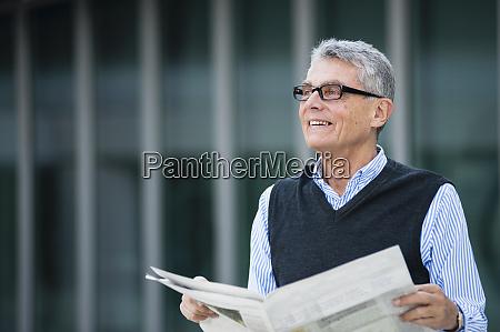 portrait of smiling senior businessman with