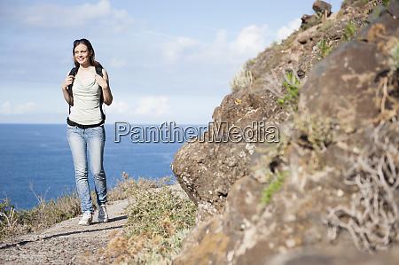 female hiker tenerife balearic islands spain