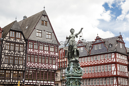 germany frankfurt old buildings and statue