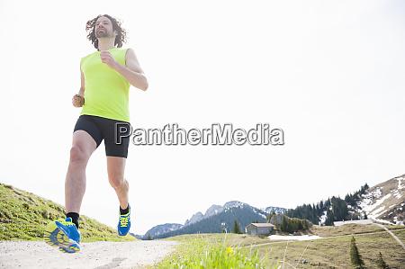 man jogging wallberg bavaria germany
