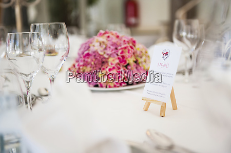 laid table for a wedding