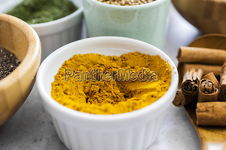 bowl of curry powder and spices